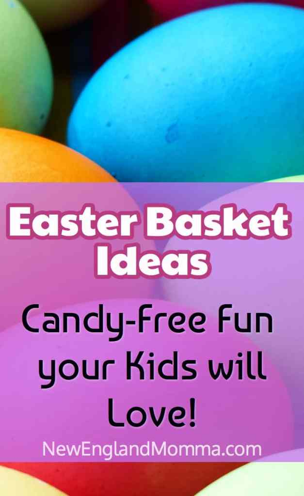 Easter Basket Ideas: No Stress Easter Basket - Just throw a few of these non-sugary treats in a basket and maybe a chocolate bunny for a treat!