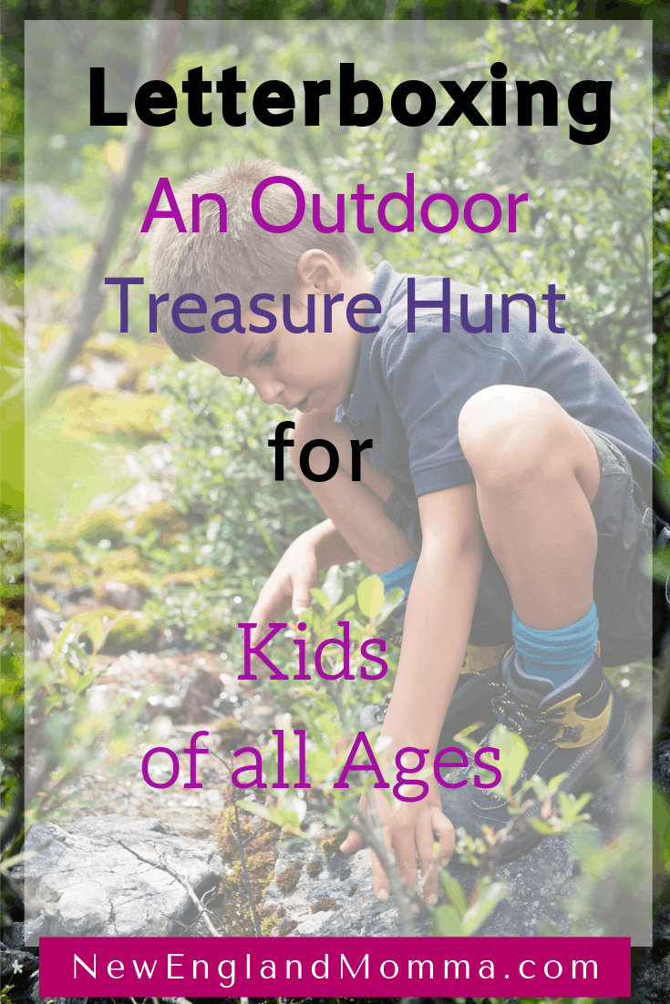a boy in the woods searching for treasure