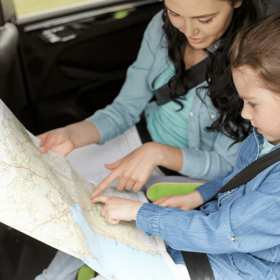 Show your kids the two points you will be traveling and let them help you decide which route to take.