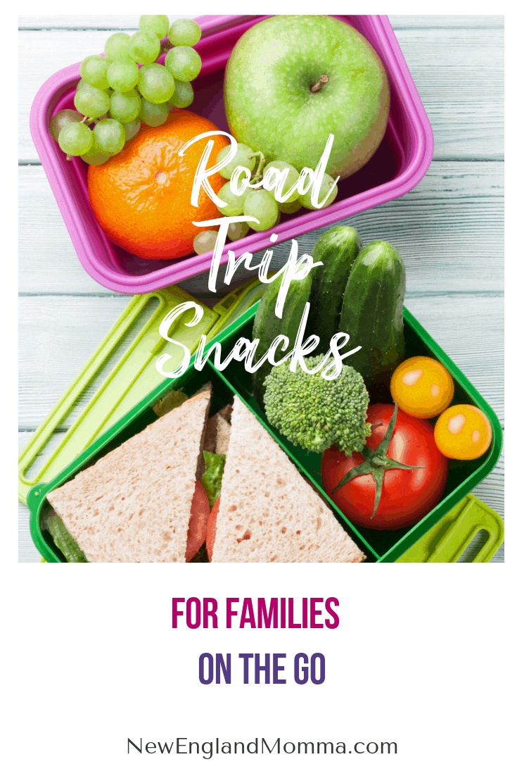 various healthy snacks for kids going on a road trip