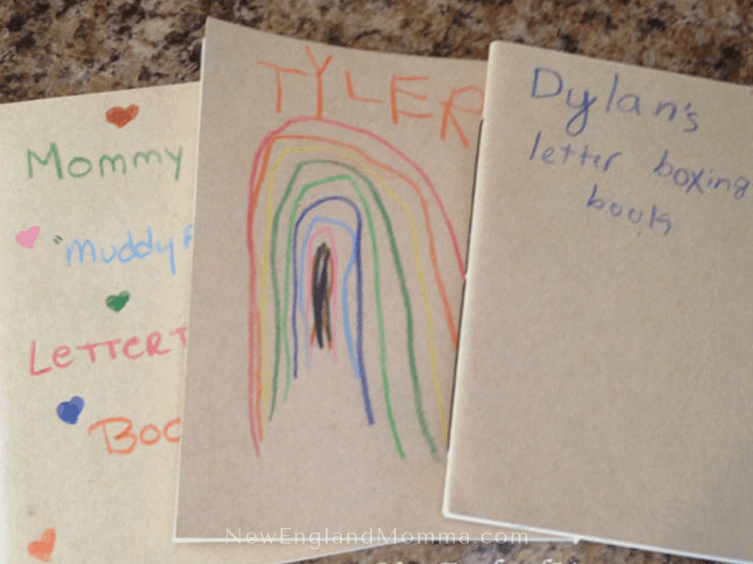 small decorated notebooks used for letterboxing