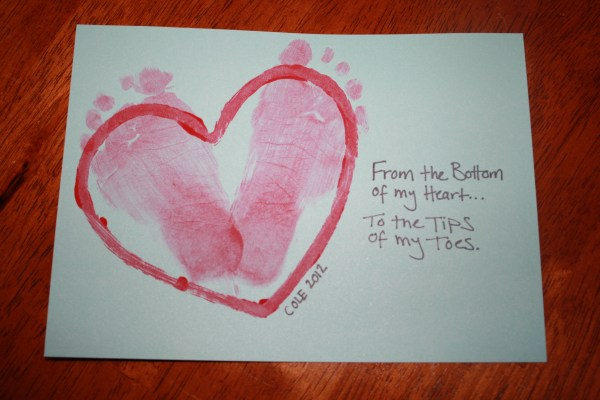 Baby's first Valentine's Day craft | New England Mommy
