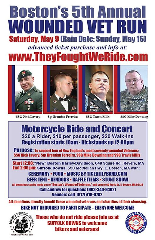Boston's 5th Annual Wounded Vet Run - 2015