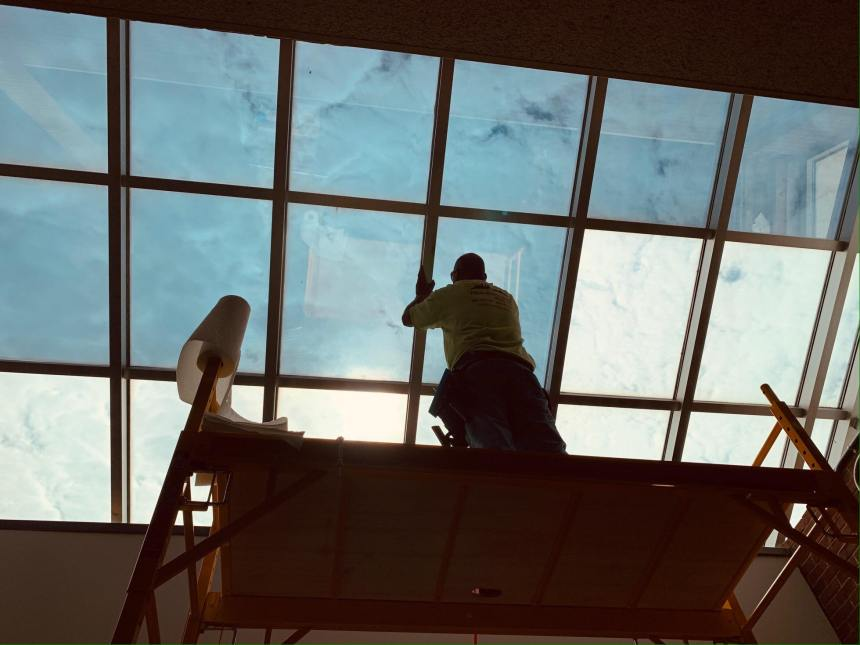 Utilizing Solar Control Window Film to Address Skylight Heat & Glare Issue - Commercial Window Tinting in Boston, Massachusetts