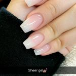 Sheer White Marble And Glitter Acrylic Nails New Expression Nails