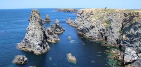 Magnifiques vue sur les aiguilles de Port Coton, à la découverte de belle île en mer