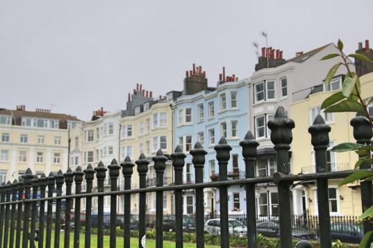 les maisons colorées de Brighton