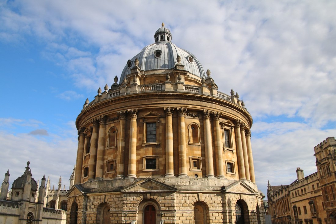 A Oxford, devant le Radcliffe Camera