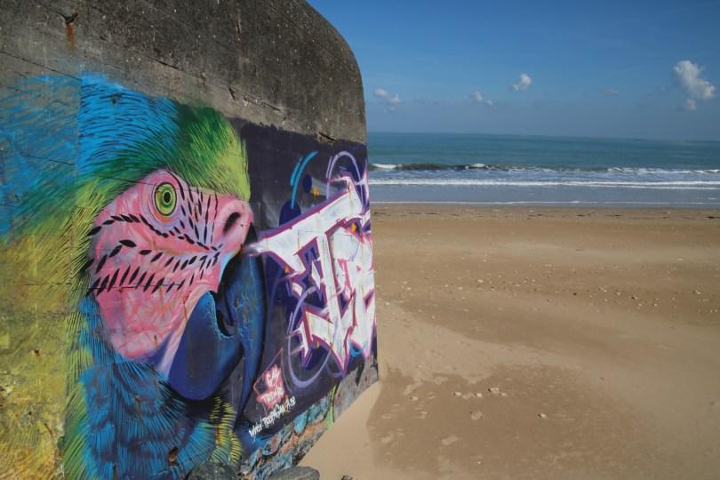bunker sur la plage de la conche