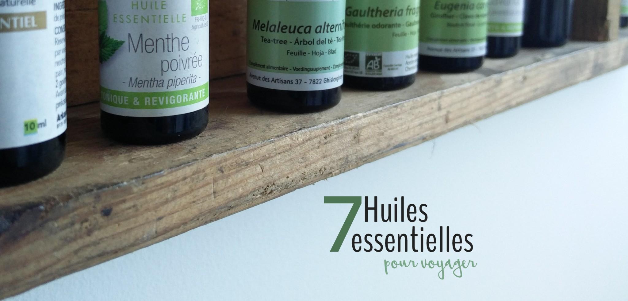 Top 7 des huiles essentielles pour voyager