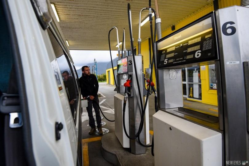 passage à la pompe en PVT Nouvelle-Zélande