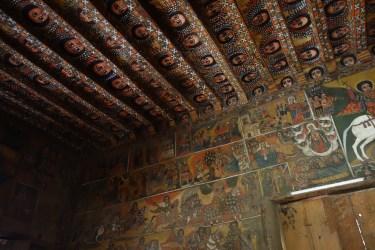 Paintings inside Debre Birhan Selassie.