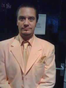 Dressed in peach, he opened with a Peach and Herb cover