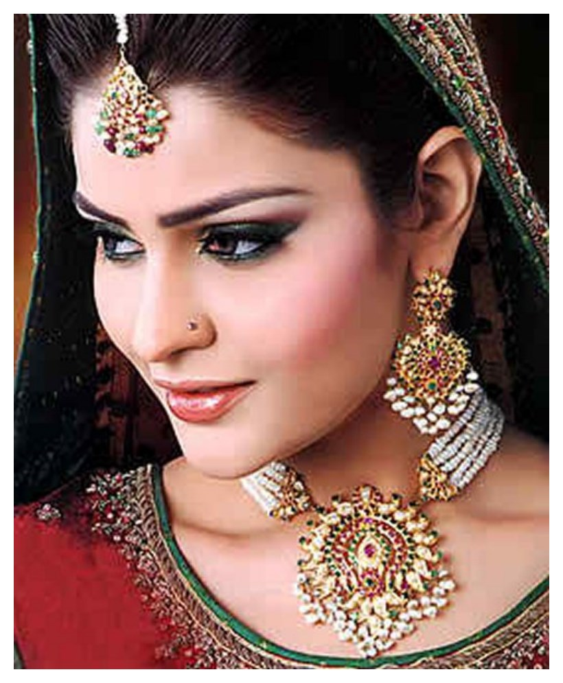 Latest Bridal Gold Jewelry Fashion 2015 In Pakistan