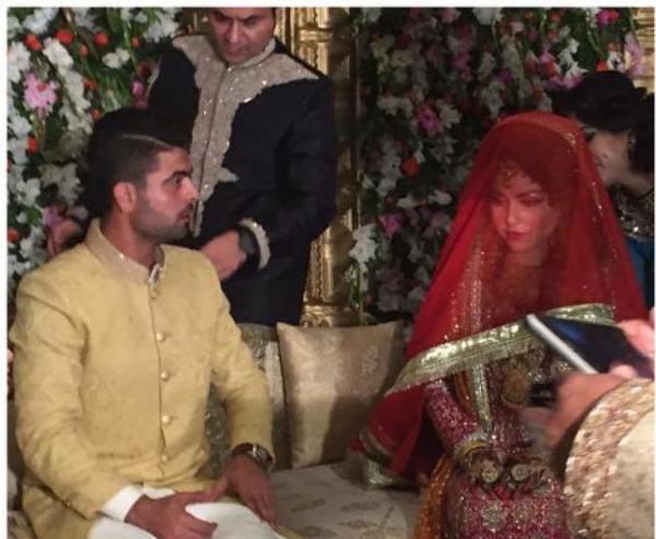 Ahmad Shahzad And wife Sana Murad Wedding Pictures
