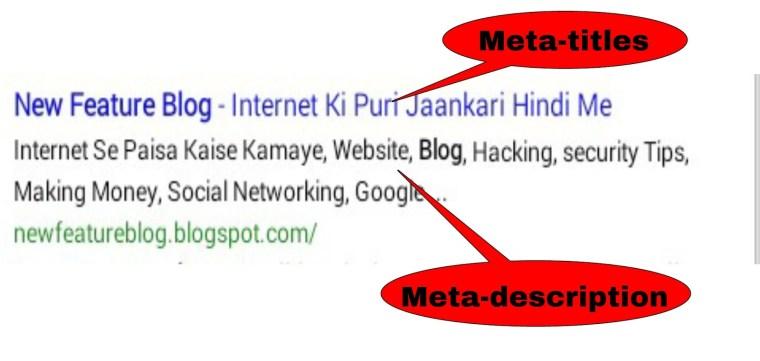 Meta titles , meta description