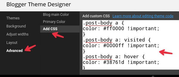 click-on-advance-add-css-and-paste-code-and-apply-to-blog