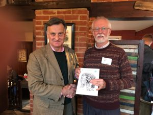 Bernard Hornung presenting book to John Ward, Chairman of Friends of the New Forest