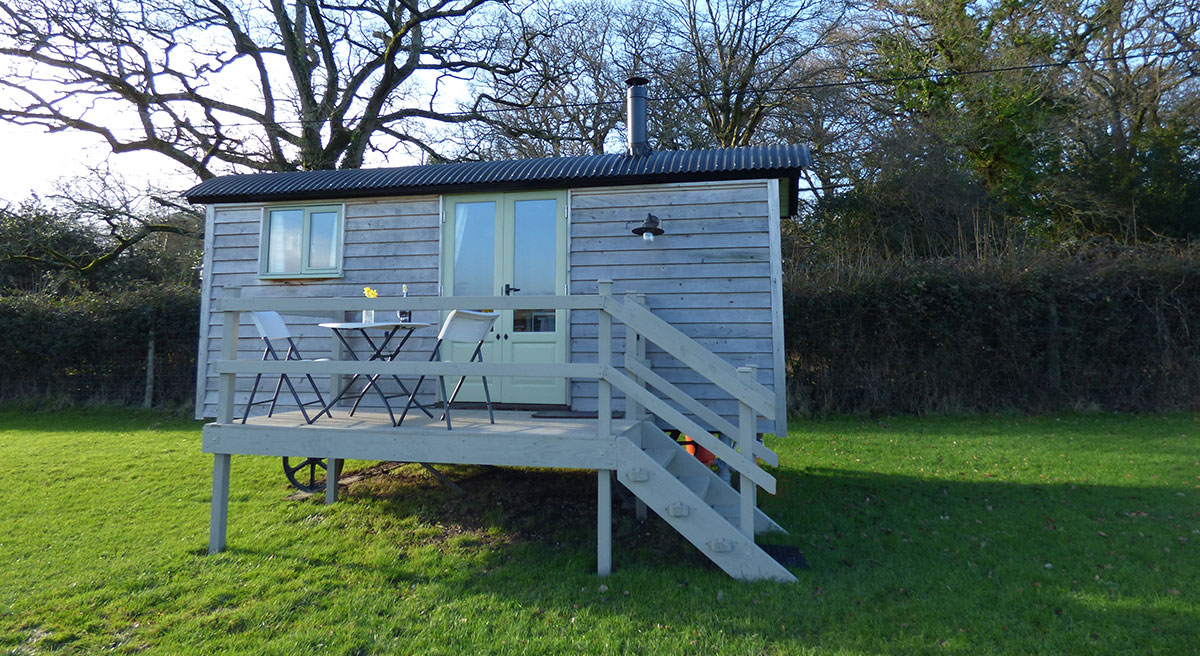 External shot of shepherds hut