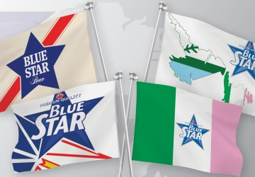 Blue Star Beer Flags in 2021: Back Again With 4 Designs!