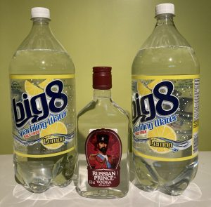 Russian Prince Vodka and Big 8 Sparkling Water