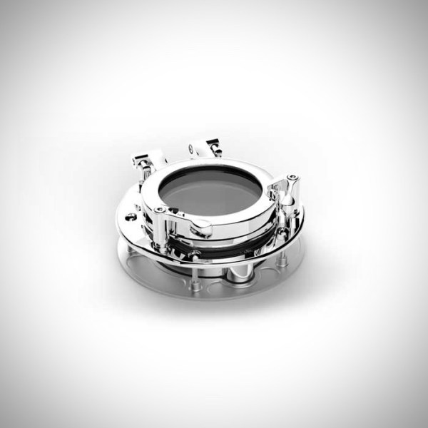 """image of our 5"""" round stainless steel portlight"""