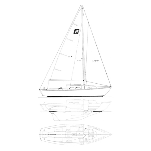 Illustration of a Cape Dory 25