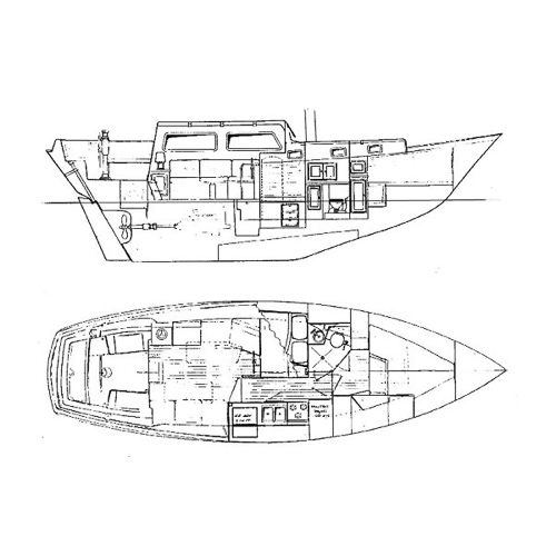Illustration of a Down East 41