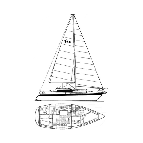 Illustration of a Riviera 35