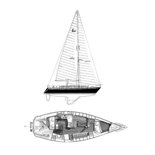 Illustration of a Sabre 38