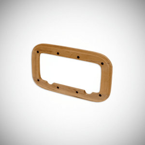 image of our teak spacer product for use with portlights.
