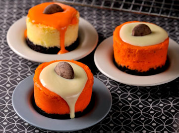Black Bottom Orange Cheesecakes