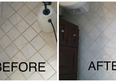 Tile and Grout Cleaning Before & After