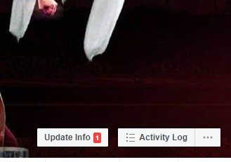 where to find activity log on Facebook