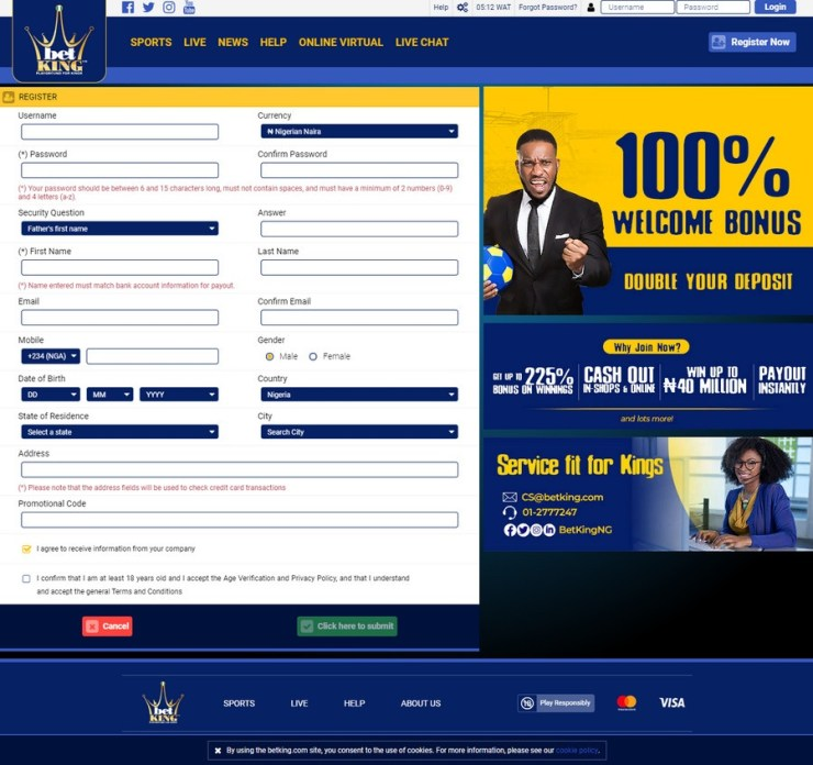 How to Register Betking Account In A Minute