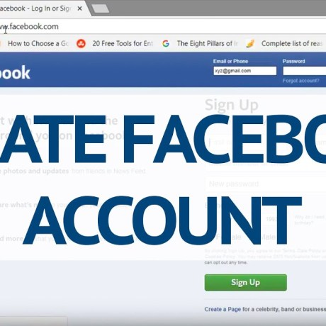 Facebook account creation   How to SignUp Facebook Account