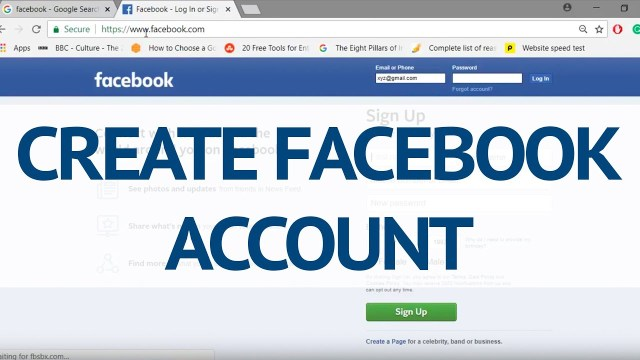 Facebook account creation | How to SignUp Facebook Account