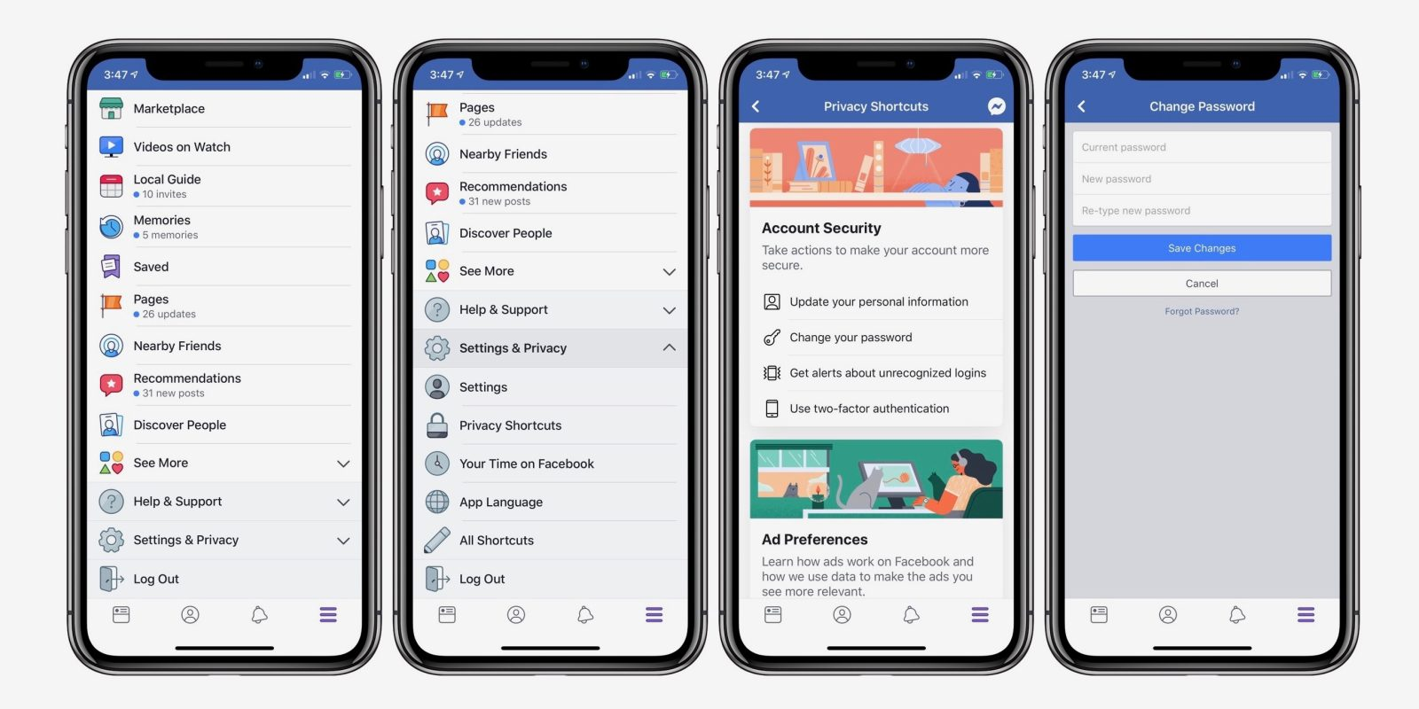 How to Change your iPhone Facebook Password