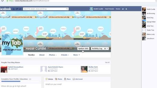 Find Your Status On Facebook