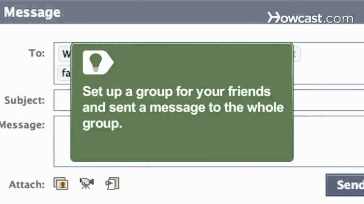 How to Send a Message To Facebook Friends One-time