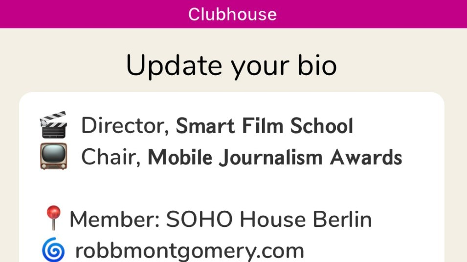 Update Your Bio On Clubhouse