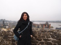 Rach at Amboise Castle, overlooking the Loire River