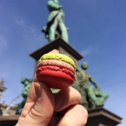 A Luxemburgerli from Sprüngli, aka the Ladurée of Switzerland