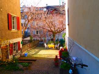 Backyard in Zurich's Old Town