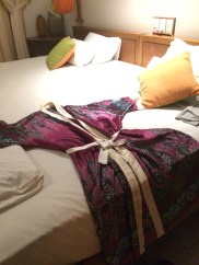 I love a turn-down service that lays out a silk robe