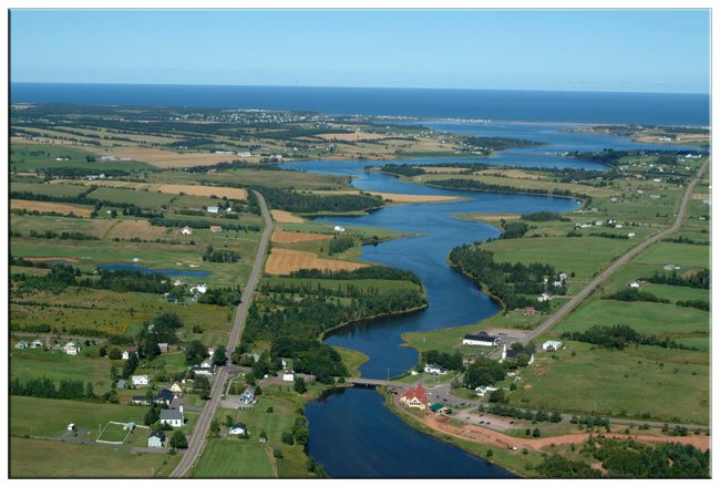 Village of New Glasgow, PEI from the air