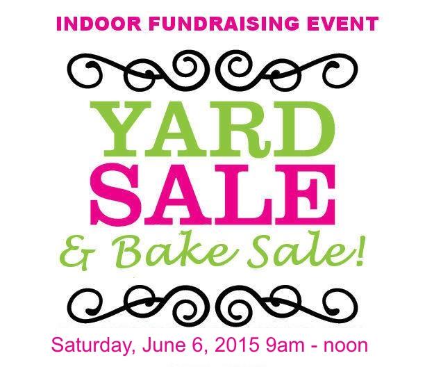 yard sale and bake sale