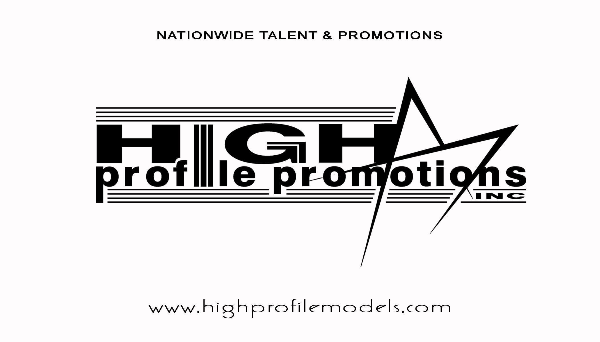 High Profile Models Business Cards Front Spot UV