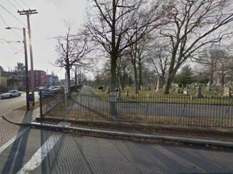 Potential cycle track within Evergreen Cemetery