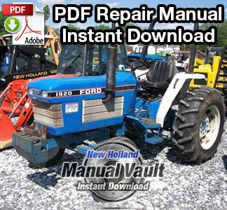 Ford New Holland 1920, 2120 Tractor Repair Manual